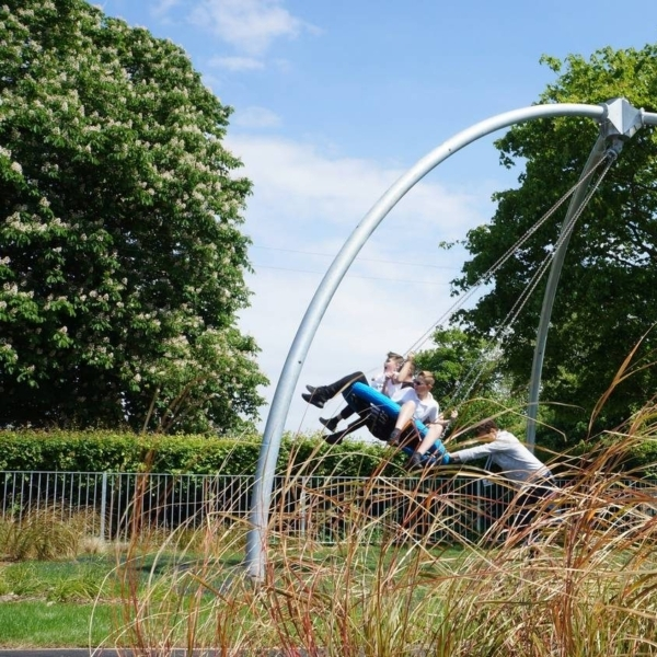 Students First To Try Out New Playground In Beddington Park